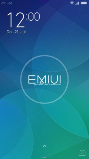 EMIUI 7.2 Lockscreen Design