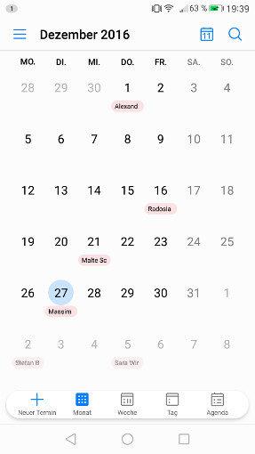 EMUI 5 Kalender App