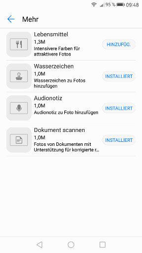 Installierbare Module für die EMUI 5 Kamera App
