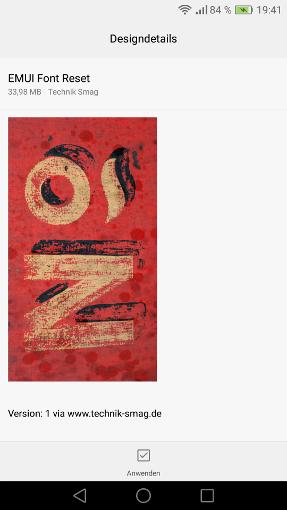 EMUI Standard Schriftart wieder herstellen