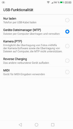 Reverse Charge, andere Geräte laden unter EMUI 5